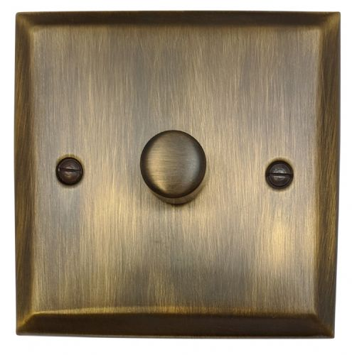 G&H SAB15 Spectrum Plate Antique Bronze 1 Gang 1 or 2 Way 700W Dimmer Switch Single Plate